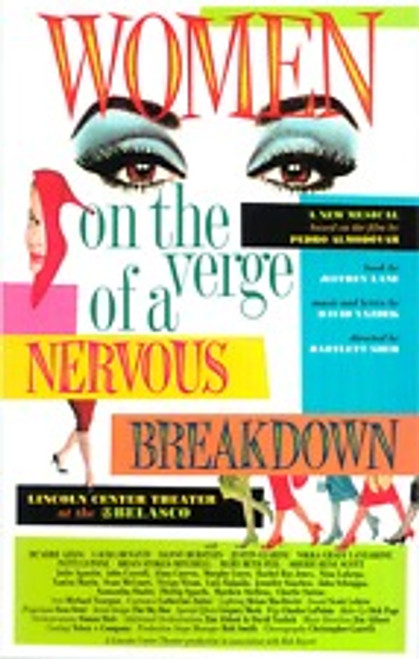 Women on the Verge of a Nervous Breakdown (Musical), Patti LuPone, Danny Burstein, Laura Benanti (2010), Poster / Window Card