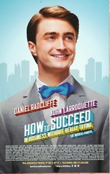 How to Succeed in Bussiness without Really Trying (2011), Daniel Radcliffe, John Larroquette – Al Hirschfeld, TheatrePoster / Window Card