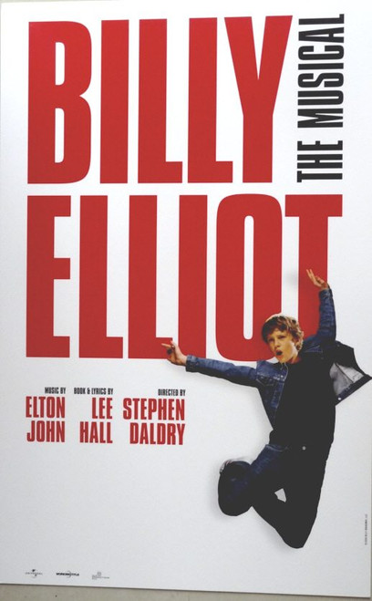 Billy Elliot (Musical), by Elton John Touring Window Card / Poster