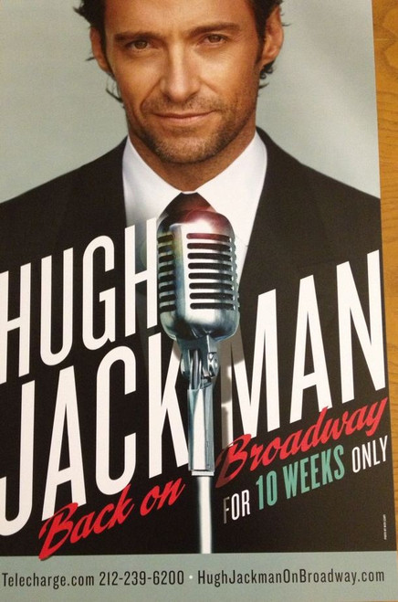 Hugh Jackman Back on Broadway, Broadhurst Theatre 2011 Broadway, Poster / Window Card