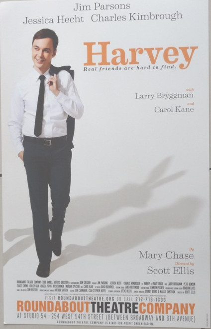 Harvey (Play) (2012 Production), Starring Jim Parsons, Jessica Hecht, Charles Kimbrough Studio 54, Poster / Window Card