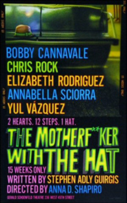 The Motherfucker with the Hat (Play), Bobby Cannavale, Chris Rock, Elizabeth Rodriguez, Poster / Window Card