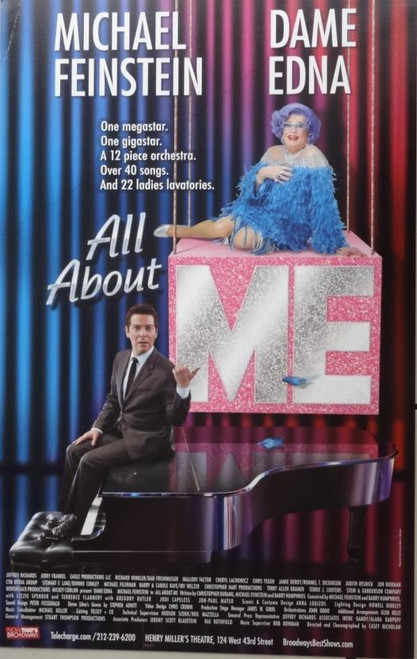 All About Me - Dame Edna (Comedy), Barry Humphries,Michael Feinstein, - Window Card Poster