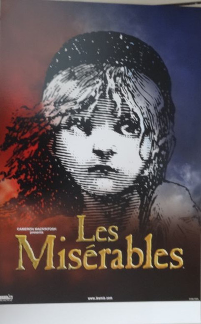 Les Miserables, (Musical) Touring Window Card / Poster