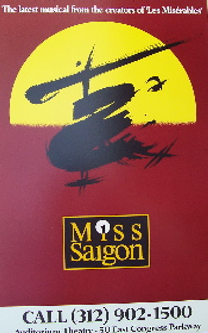 Miss Saigon (Musical), Touring - Window Card / Poster