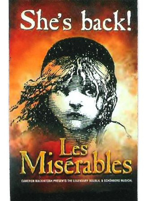 Les Miserables, (Musical) 2006 Broadway Revival Window Card / Poster