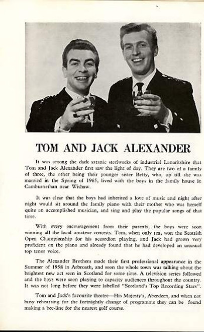 The Alexander Brothers Show (Concert), Folk-music duo from Scotland - 1973 Aberdeen at His Majesty's Theatre Aberdeen UK