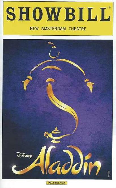 Aladdin, by Alan Menken, Howard Ashman, Tim Rice, Chad Beguelin, Aladdin OBC, Aladdin Playbill, Aladdin Memorabilia