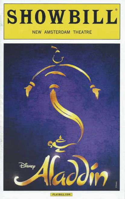 Aladdin Playbill Sept 2014, Adam Jacobs, Jonathan Freeman, James Monroe Iglehart, Courtney Reed, Aladdin OBC, Aladdin memorabilia