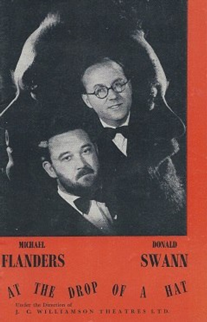 At the Drop of a Hat Program/Playbill - 1964, Theatre Royal Sydney, Starring Michael Flanders, Donald Swann
