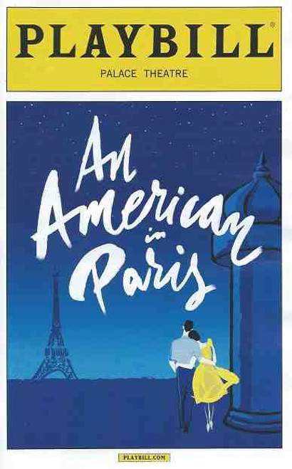 An American in Paris by George & Ira Gershwin, Playbill April 2015 Broadway
