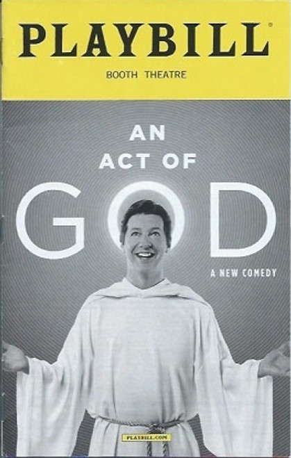 An Act of God - Booth Theatre, Sean Hayes July 2016, An Act of God Playbill, Playbills and Programs