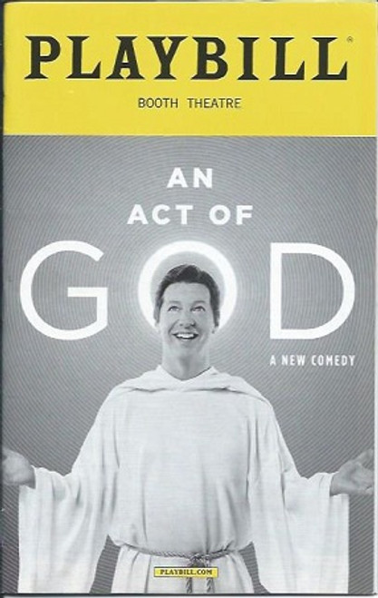 An Act of God - Booth Theatre, Sean Hayes August 2016, an act of god playbill, playbills and programs
