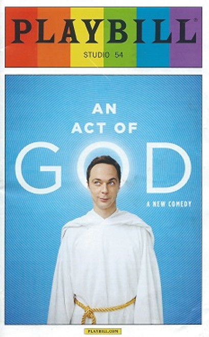 An Act of God - Studio 54 Playbill, Jim Parson June 2015 Pride Edition, an act of god playbill, pride playbills, pride programs