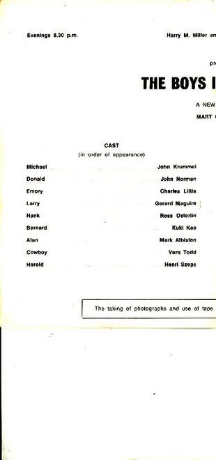 The Boys in the Band (Play), Henri Szeps,John Krummel, John Norman, Charles Little, Playbox Theatre Melbourne Australia, playbill, programs, boys in the band memorabilia