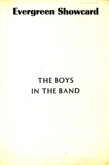 The Boys in the Band (Play), Kenneth Nelson, Peter White, Leonard Frey, Cliff Gorman - 1968, Theatre 4 New York Off B'Way