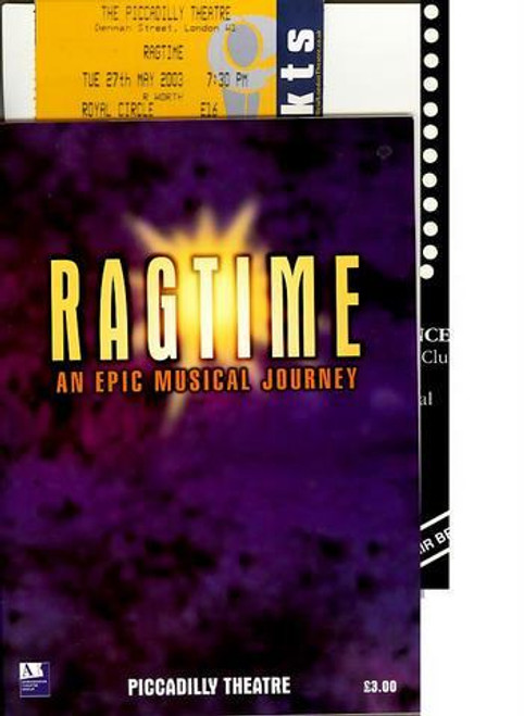 Ragtime : Based on the 1975 novel by E. L. Doctorow, Ragtime tells the story of three groups in America, represented by Coalhouse Walker Jr., a Harlem musician; Mother, the matriarch of a WASP family in New Rochelle, NY; and Tateh, a Latvian Jewish immigrant.