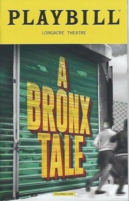 A Bronx Tale Musical, PlaybillDec 2016, Nick Cordero - Richard H Blake - Bobby Conte Thornton
