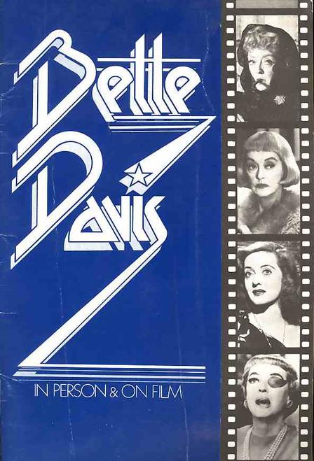 Bette Davis in Person and On Film,  Talk Show, Moderator John Springer - 1975 Australian Tour Bette Davis, program, bette davis program