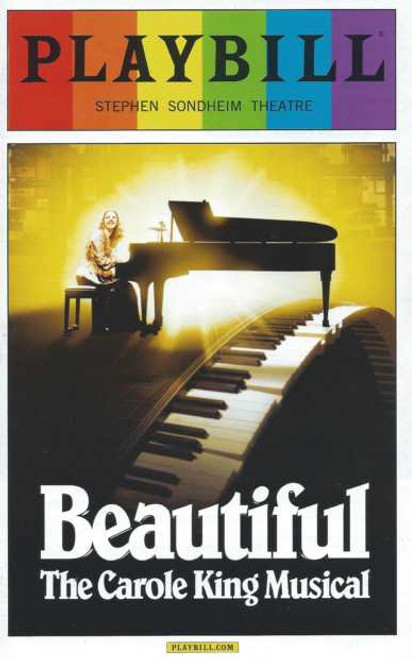 Beautiful June 2014 Pride Edition, Jessie Mueller, Jake Epstein, Anika Larsen,Beautiful the Carole King Musical, Pride Playbill