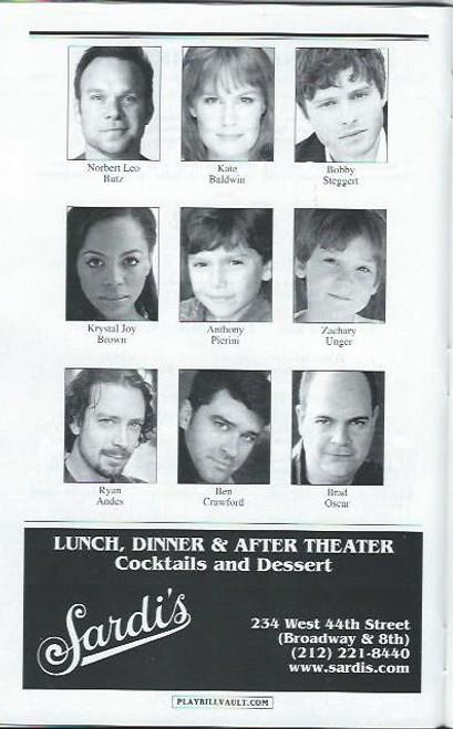 Big Fish (Musical) Norbert Leo Butz, Kate Baldwin, Bobby Steggert, Playbill/ Program, Date Sept 2013, big fish playbill