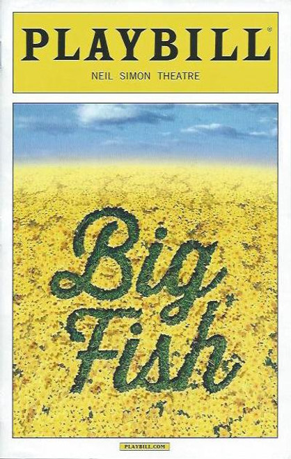 Big Fish (Musical) Norbert Leo Butz, Kate Baldwin, Bobby Steggert, Playbill/ Program, Date Sept 2013, big fish playbill