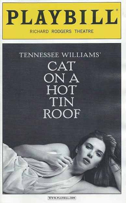 Cat on a Hot Tin Roof, Broadway 2013, Richard Rodgers Theatre,Playbill, Cat on a hot tin roof program,ciaran hinds, scarlett johansson, benjamin walker, debra monk