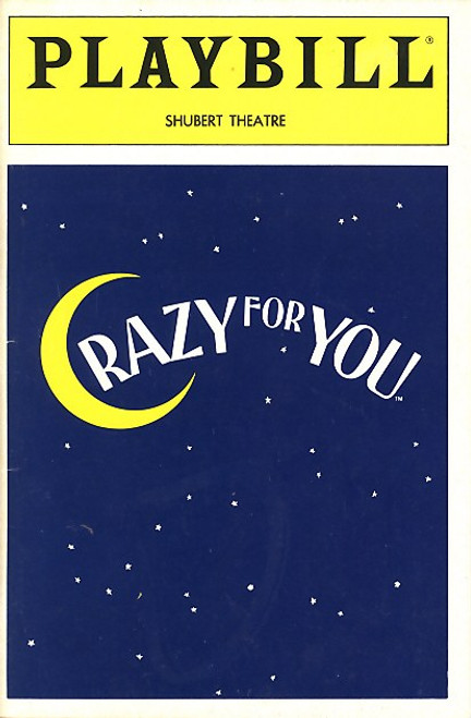 Crazy for You,  March 1992 Musical,  John Hillner,  Sam S Shubert Theatre, John Hillner, Michelle Pawk, Ronn Carroll, Jane Cornnell, Bruce Adler, playbill. program