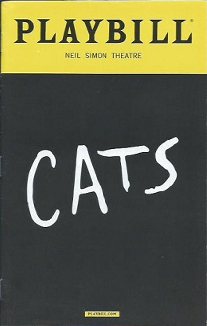 Cats - Neil Simon Theatre,  August 2016, Ahmad Simmons, Christine Cornish Smith, Tyler Hanes, Giuseppe Bausilio, Emily Pynenburg, Cory John Snide, Kim Faure, cats program, cats playbill