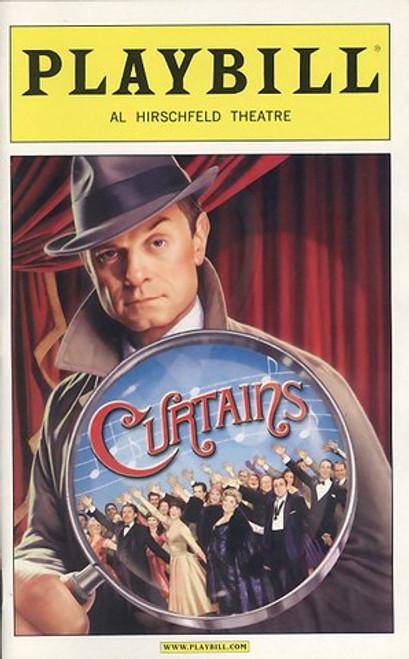 Curtains is a musical,  David Hyde Pierce, Debra Monk, Karen Ziemba, Jason Danieley, Jill Paice, Edward Hibbert , broadway 2007, curtains playbill, curtains playbill