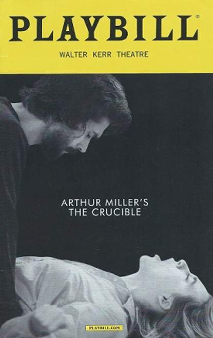 The Crucible by Arthur Miller, Playbill March 2016 (Style 2), Ben Whishaw, Sophie Okonedo, Ciaran Hinds, Saoirse Ronan, Walter Kerr Theatre