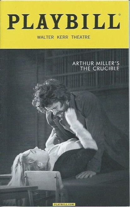 The Crucible by Arthur Miller, Playbill May 2016, Ben Whishaw, Sophie Okonedo, Ciaran Hinds, Saoirse Ronan, Walter Kerr Theatre