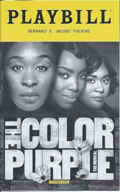 The Color Purple (Playbill Sept 2016), Music and Lyrics by Brenda Russell, Allee Willis and Stephen Bray, Heather HeadleyCynthia Erivo Bernard B. Jacobs Theatre