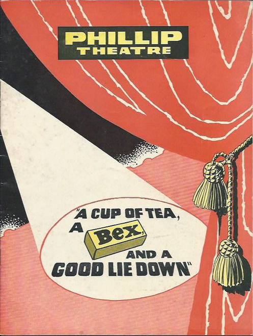 A Cup of Tea a Bex, and A Good Lie Down(Comedy Revue), John Ewart,Gloria Dawn,Ruth Cracknell,Reg Livermore, 1965 Phillip Theatre Sydney Souvenir Program