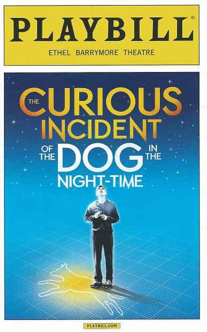 The Curious Incident of the Dog in the Night Time, Alex Sharp - PlaybillFeb 2015, plays on broadway, broadway playbills