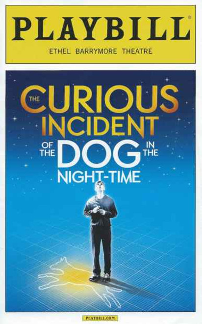 The Curious Incident of the Dog in the Night Time,  Alex Sharp - Playbill September 2014, Broadway Playbills, Broadway Plays, Show Programs