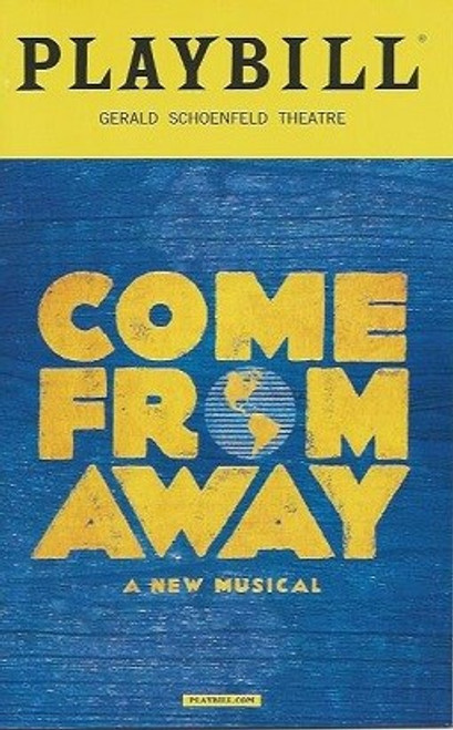 Come From Away, PlaybillFeb 2017, Chad Kimball, Petrina Bromley, Jenn Colella,  Joel Hatch