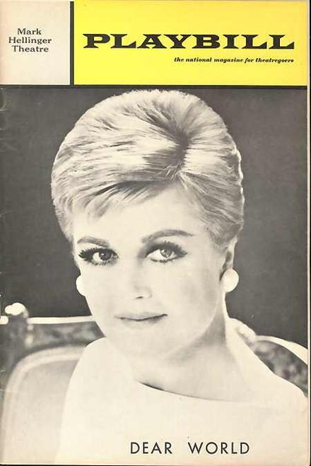 Dear World,  Musical, Angela Lansbury, Jane Connell, Carmen Mathews, Kurt Peterson,  May 1969 Broadway Production, Dear World Memorabilia, Dear World Playbill, Dear World Program