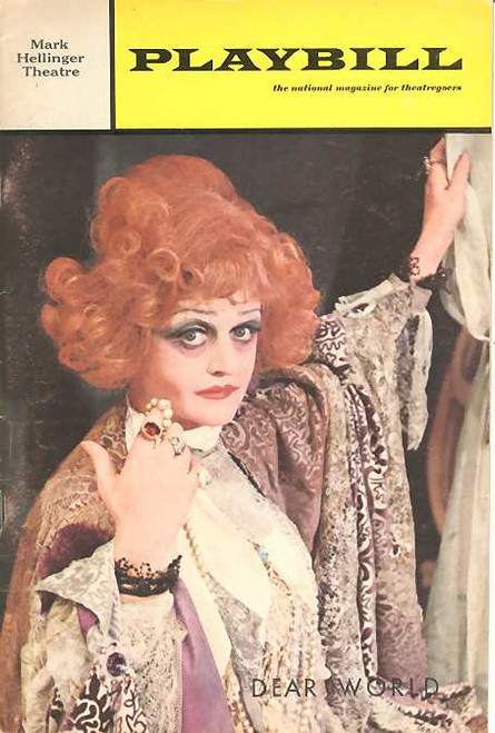 Dear World (Musical), Angela Lansbury, Jane Connell, Carmen Mathews - Dated January 1969 Issue 1 Broadway, Dear World Memorabilia