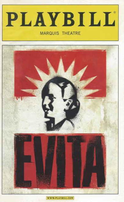 Evita Playbill Opening Night Apr 5, 2012 includes After Party Invitation, Ricky Martin, Elena Roger, MichaelCerveris, Christina DeCicco