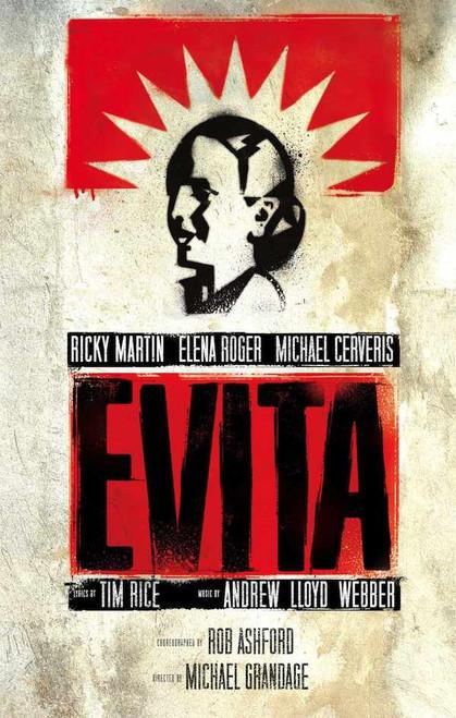 Evita (Musical), Ricky Martin, Elena Roger, Max Von Essen, Christina DeCicco, Michael Cerveris, 2012 Broadway Revival Marquis Theatre