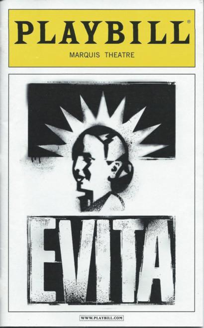 Evita (Musical), Ricky Martin, Elena Roger, Max Von Essen, Christina DeCicco, Michael Cerveris, Sept 2012 Playbill Broadway Revival Marquis Theatre