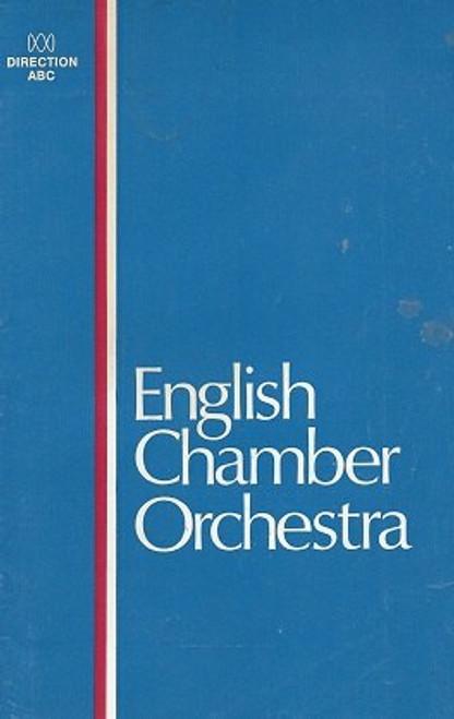 English Chamber Orchestra, Brisbane City Hall 1969, Conductor and Soloist - Daniel Barenboim