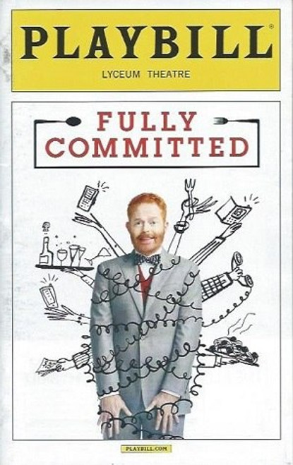 Fully Committed by Becky Mode, May 2016, Starring Jesse Tyler Ferguson, broadway playbill
