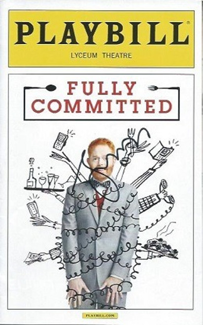Fully Committed by Becky Mode (April 2016), Starring Jesse Tyler Ferguson – Cover Signed by Jesse