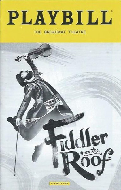 Fiddler on the RoofBroadway Revival, PlaybillSept 2016,  Broadway Theatre Danny Burstein, Jessica Hecht, Adam Kantor