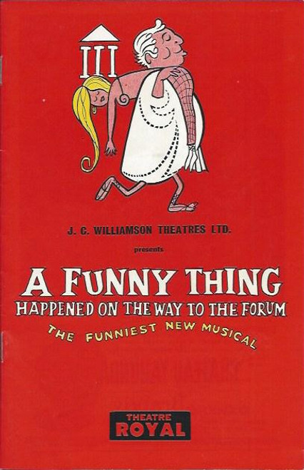 A Funny Thing Happened on the Way to the Forum (Musical) - Theatre Royal Sydney Australia, Music and Lyrics by Stephen Sondheim and book by Burt Shevelove and Larry Gelbart