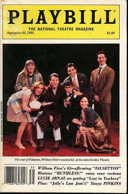 Falsettos (Musical), Stephen Bogardus, Barbra Walsh, Chip Zien, Jonsthsn Kaplan  - 1992 National Theatre Magazine