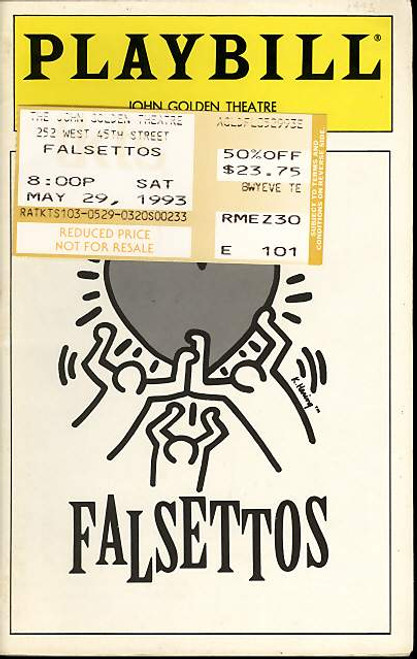 Falsettos (Musical) Mandy Patinkin, Sean McDermott, Chip Zien, Randy Graff - May 1993 John Golden Theatre Broadway