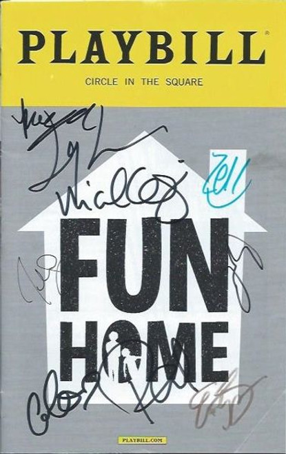Fun Home by Lisa Kron, Jeanine Tesori, Playbill Sept 2016 Circle in the Square - Autographed by Cast, Beth Malone, Gabriella Pizzolo, Michael Cerveris, Emily Skeggs, Judy Kuhn, Oscar Williams, Zell Steele Morrow, Joel Perez